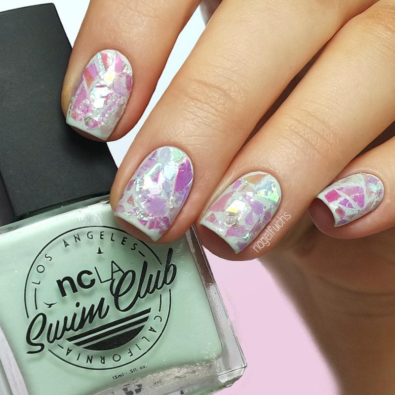Iridescent Glitter Nails nail art by nagelfuchs - Nailpolis: Museum ...
