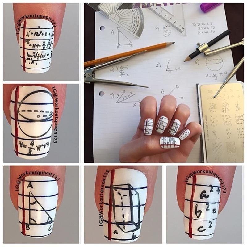 Math Class nail art by Workoutqueen123