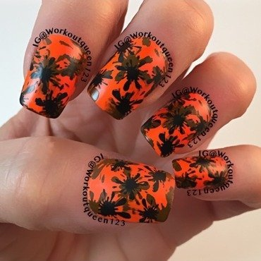 Splatter mani nail art by Workoutqueen123