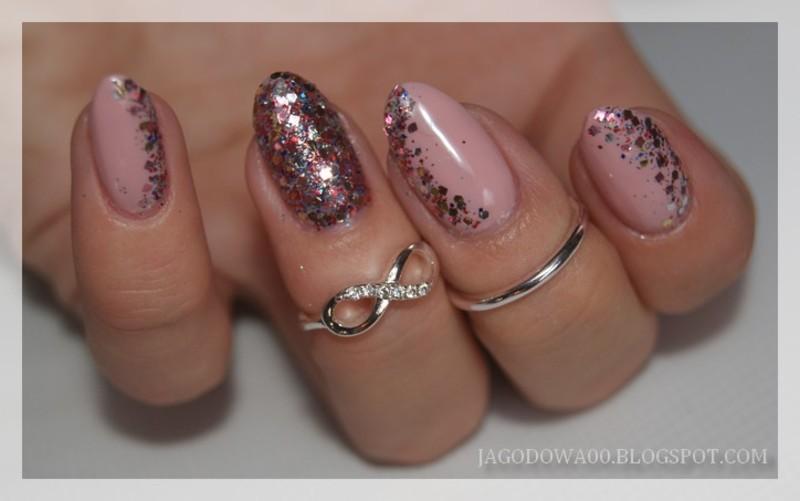 31DC2015 - Glitter  nail art by Jadwiga