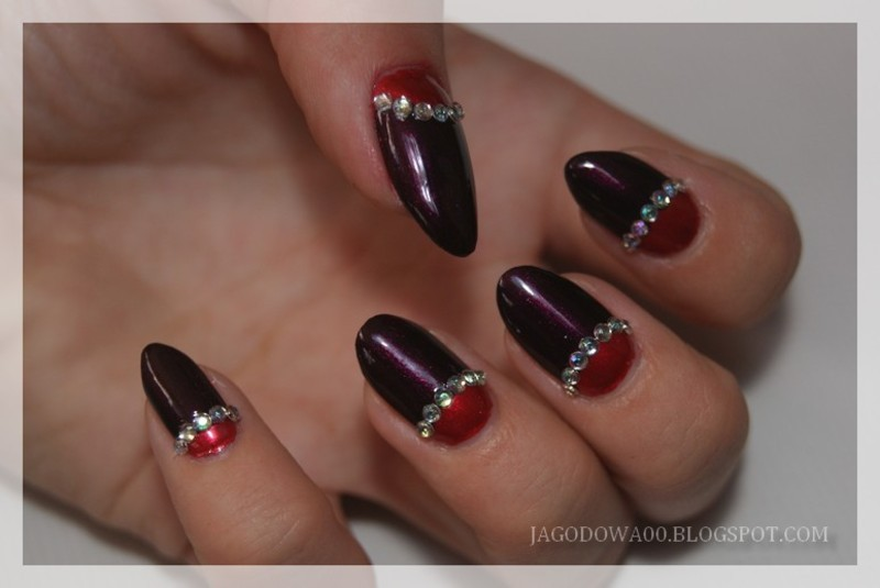 31DC2015 - Half Moon  nail art by Jadwiga