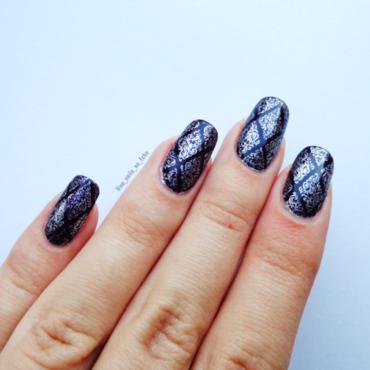 Silver Stamping nail art by No Nails No Fshn
