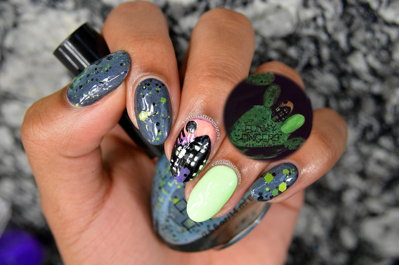 Haunted House nail art by Fatimah
