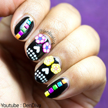 Sugar Skull Nails nail art by Madhu DenDiva