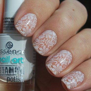 Wedding lace nails nail art by Hana K.