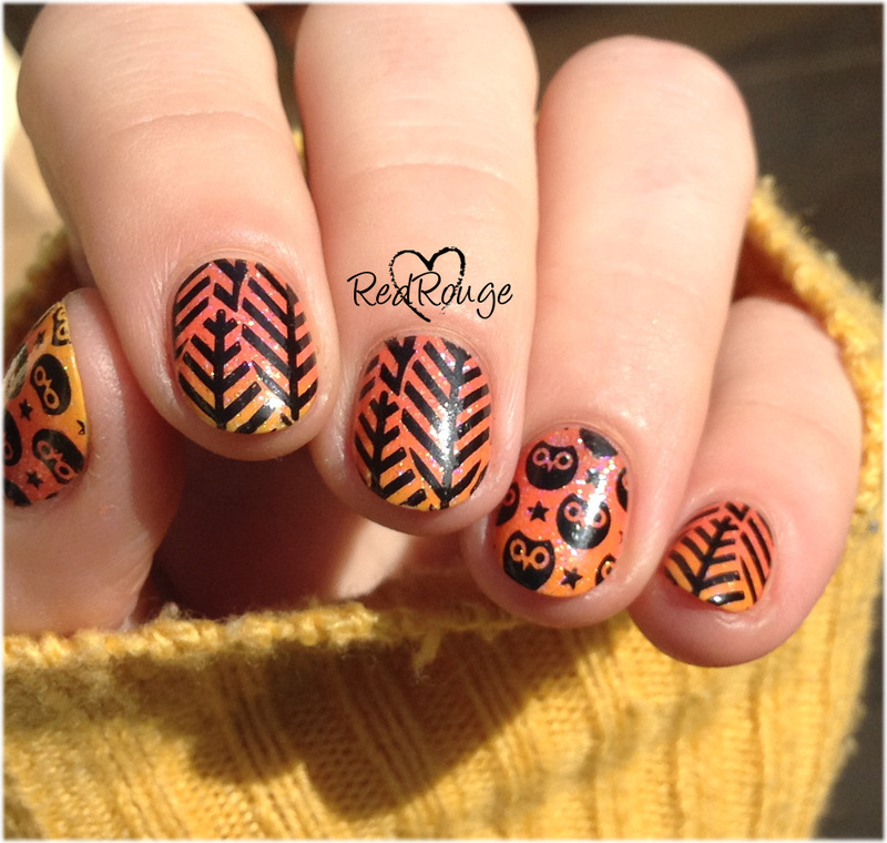 autumn owl nail art by RedRouge - Nailpolis: Museum of Nail Art
