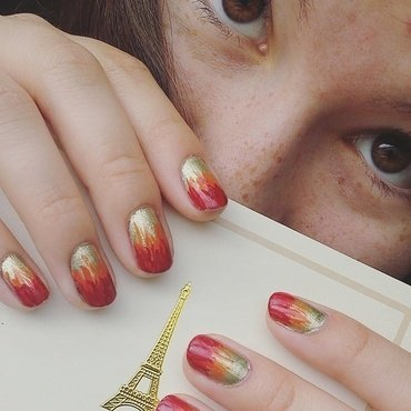 AutumnFire nail art by Clarissa W