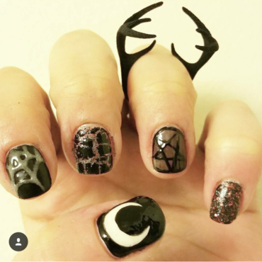 Be witched nail art by Kristen Lovett