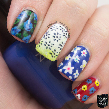 Penelope Garcia Florals nail art by Marisa  Cavanaugh