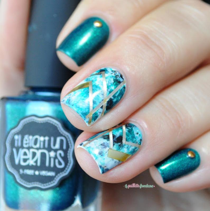 Emerald Nail Art By Nathalie Lapaillettefrondeuse Nailpolis