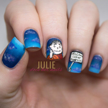 Welcome Great Pumpkin! nail art by Julie