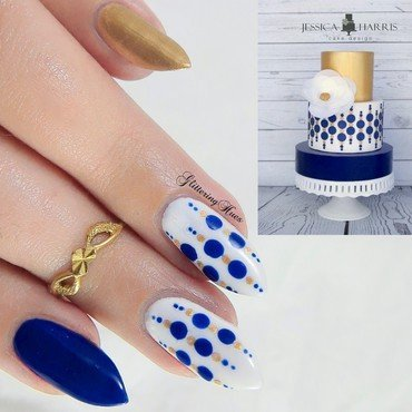 Cake inspired dotticure nail art by Glittering Hues