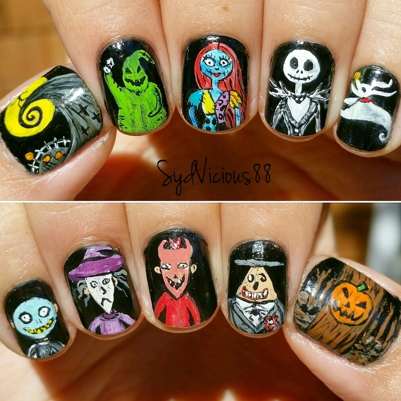 Halloween town nail art by SydVicious