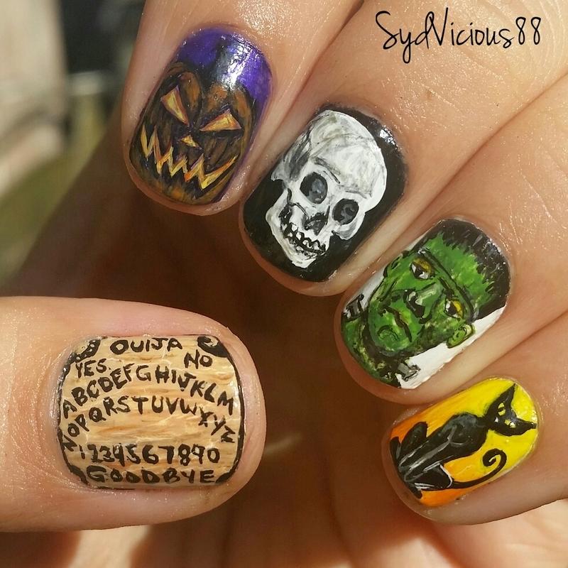 Halloween 2015 nail art by SydVicious
