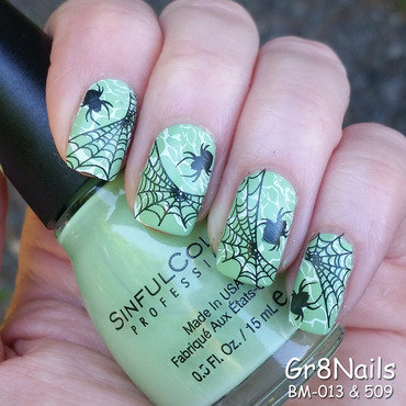 Spider Web nail art by Gr8Nails