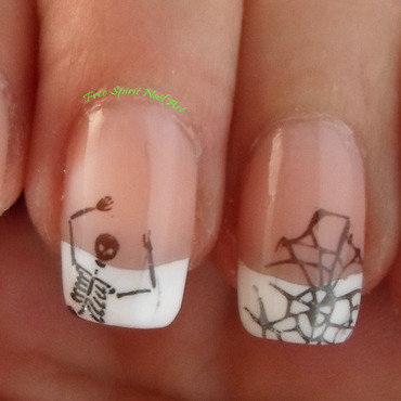 Halloween French Mani nail art by Free_Spirit_Nail_Art