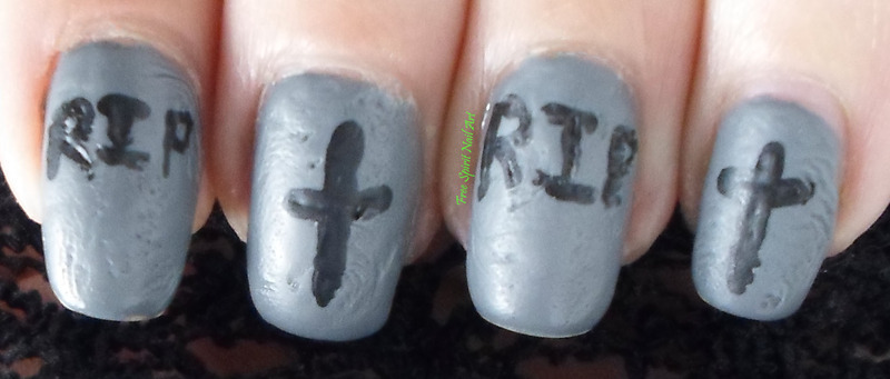 Tombstone Mani nail art by Free_Spirit_Nail_Art