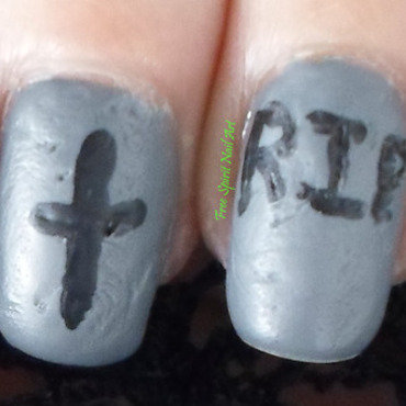 Tombstone Mani nail art by Free_Spirit_Nail_Art