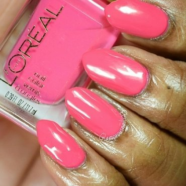 L'Oreal Hella Pink Swatch by glamorousnails23