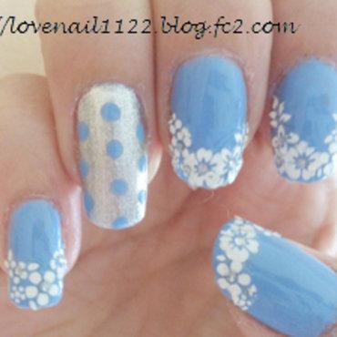 flower french nail art by girasol