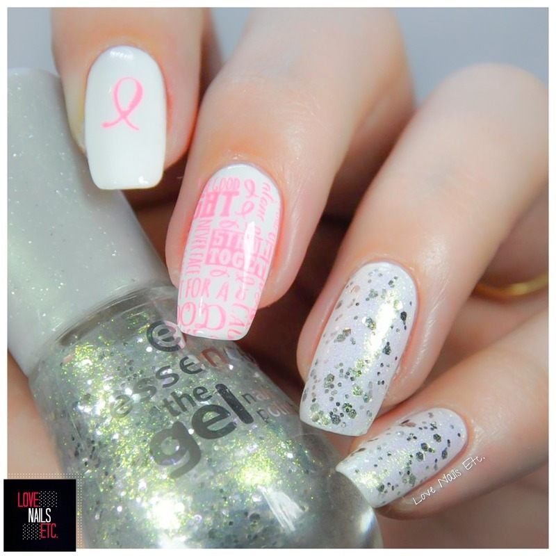 Think Pink nail art by Love Nails Etc