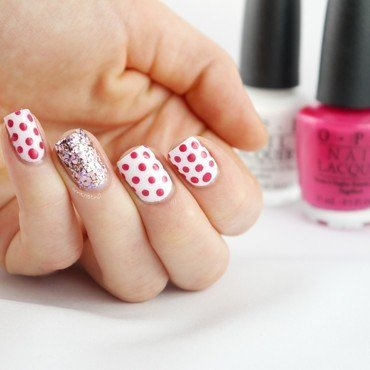 BC Awareness Dotticure nail art by Ann-Kristin