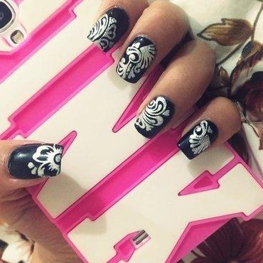 Black is always a good idea nail art by Natalia D.