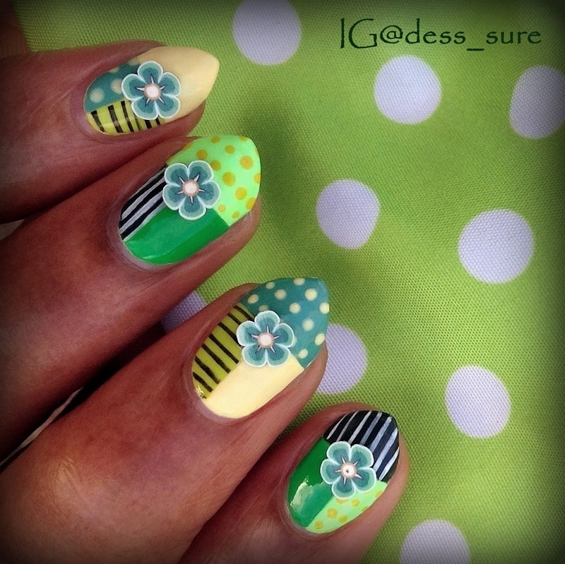 Flower patches nail art by Dess_sure