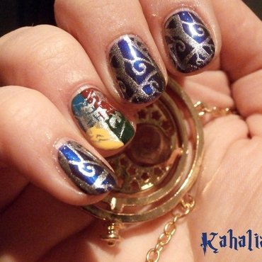 Harry Potter nail art by Kahaliah
