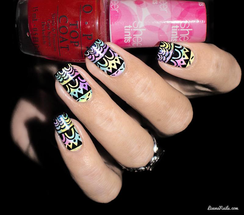 Nail Art Sheer Tints nail art by Lizana Nails