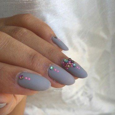 Gray nails nail art by Massiel Pena