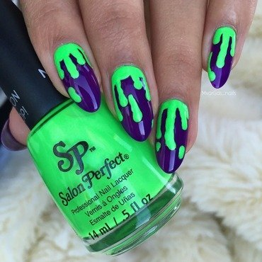 Slime nails nail art by Massiel Pena