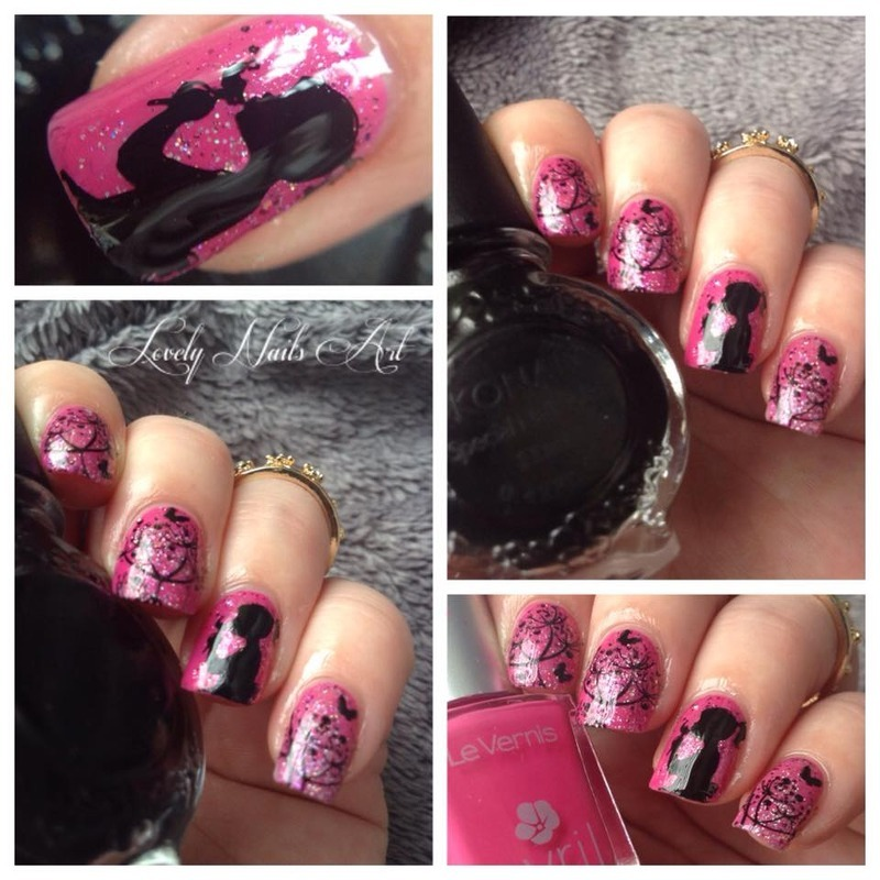 Nail art stamping *fille* nail art by Lovely Nail's  Art