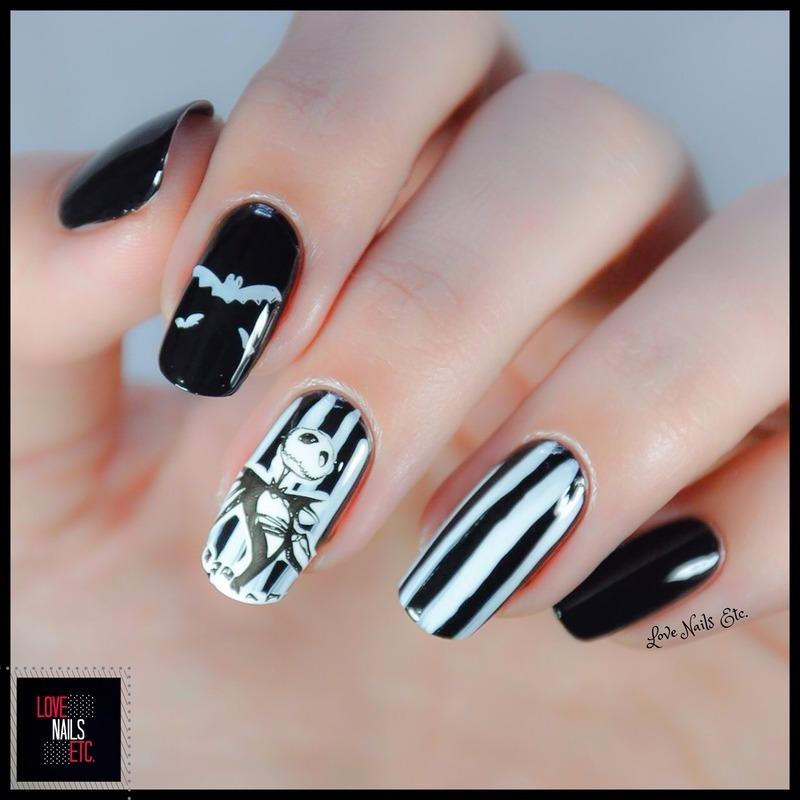 Jack Skellington nail art by Love Nails Etc