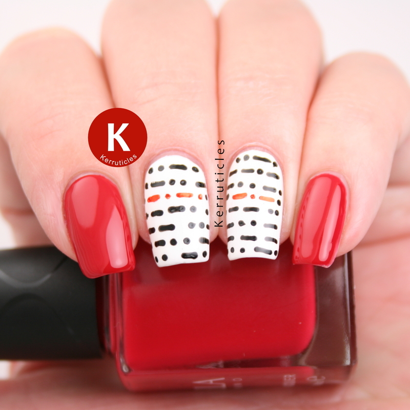Morse code nails nail art by Claire Kerr