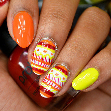 Autumn Tribal nail art by Fatimah