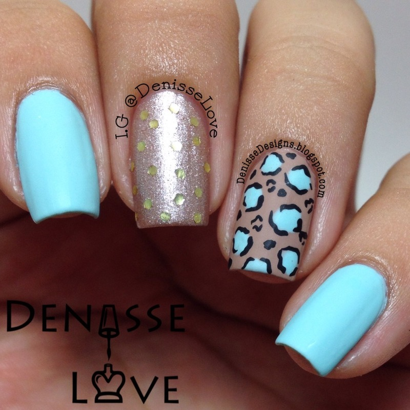 Madly Matte nail art by Denisse Love