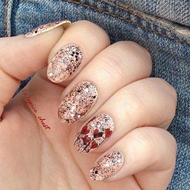 Grunge nail art by Svetlana