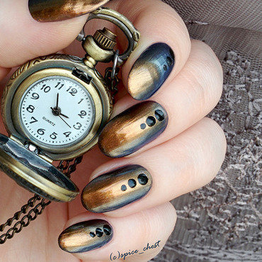 Steampunk nail art by Svetlana
