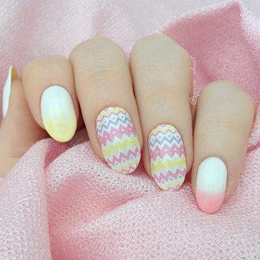 Pastel Ethnic nail art by Svetlana