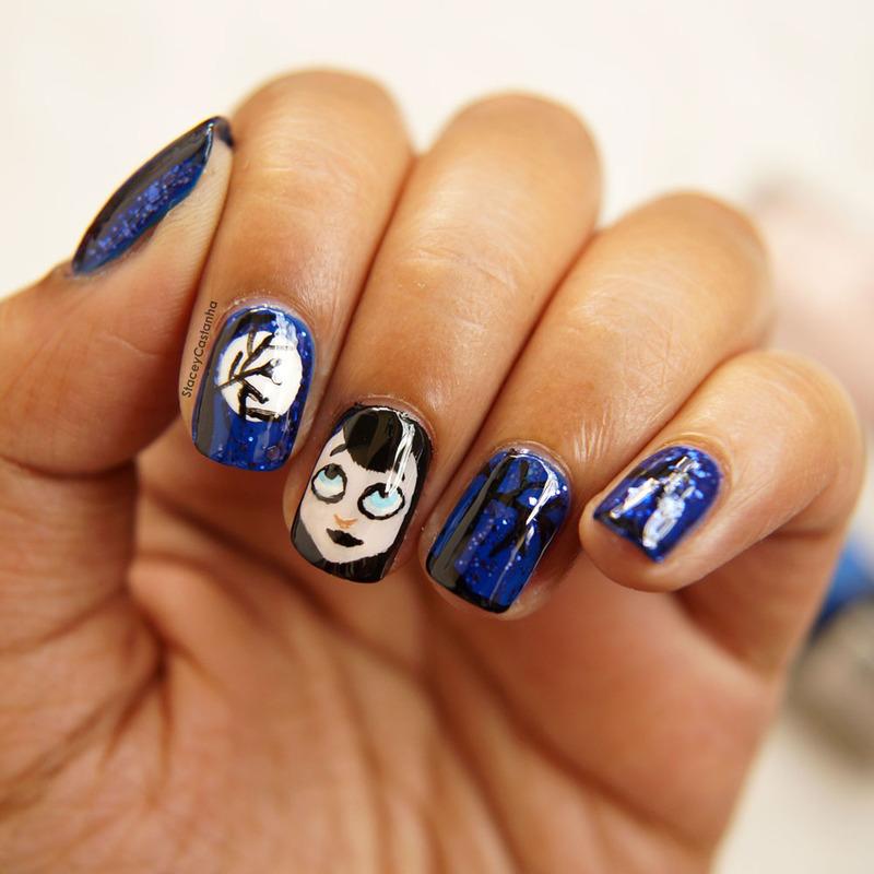 Hotel Translyvania MAVIS nailart nail art by Stacey  Castanha
