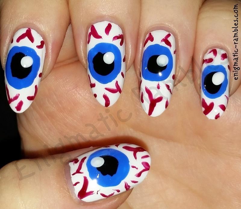 Eyeball Nails nail art by Enigmatic Rambles - Nailpolis: Museum of ...