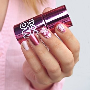 Pink Flowers nail art by katharinapeskelidou