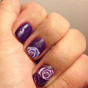 Roses nail art by Elyana