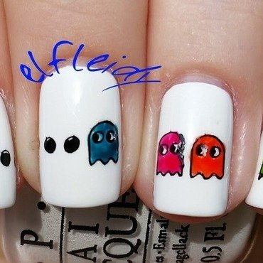 40 Great Nail Art Ideas- Geeks nail art by Jenette Maitland-Tomblin