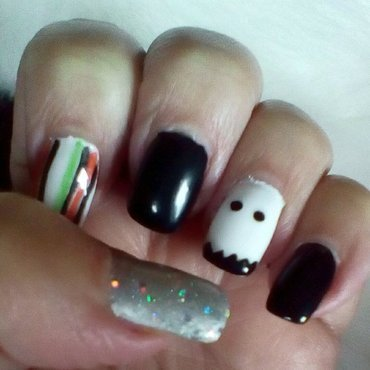 Halloween party nail art by upgirlcd