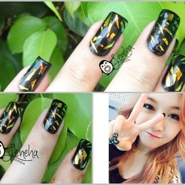 Foil Nails nail art by Leneha Junsu