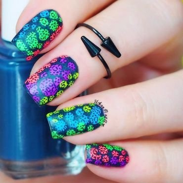 Fun And Colorful Manicure nail art by Lou