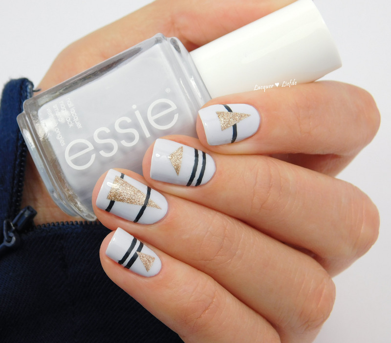 Geometric Nails nail art by Anna
