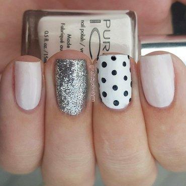 Polkadots & Glitter nail art by Olivia D.